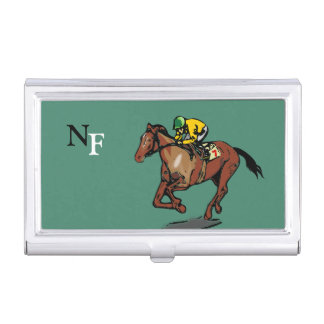 Horse and Jockey Business Card Holder