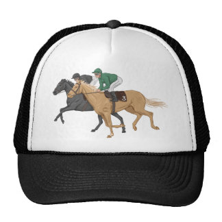 Horse and Jockey Trucker Hat