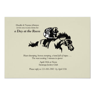 Horse and Jockey Invitation