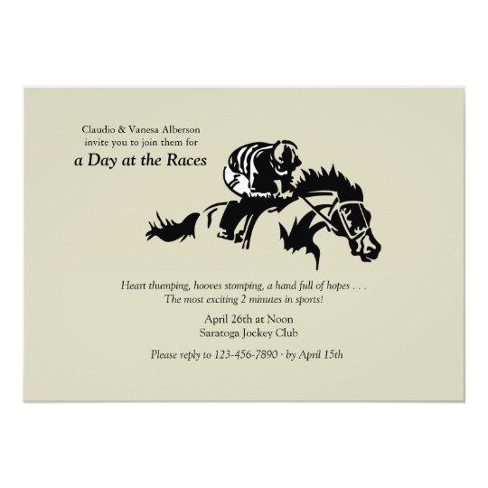 Horse And Jockey Invitation