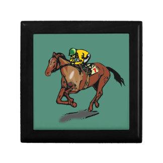 Horse and Jockey Small Square Gift Box