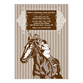 Horse and Jockey Stripe Invitation