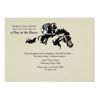 Horse and Jokey Invitation