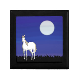 Horse and Moon Trinket Box