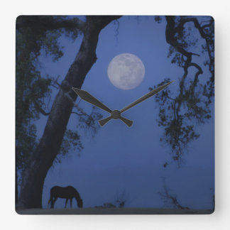 "Horse and Oak Tree ""Blue Moon"" Clock"