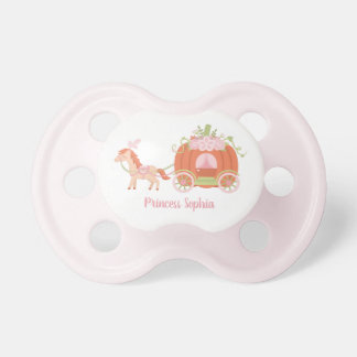 Horse and Pumpkin Carriage Baby Girl Princess Dummy