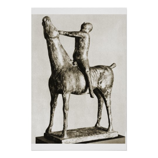 horse and rider, marino marini poster