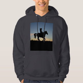 Horse and Rider Silhouette Hoodie