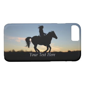 Horse and Rider Silhouette Personalized iPhone 8/7 Case