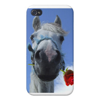 Horse and Rose iPhone cover Cases For iPhone 4