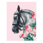 Horse And Roses Postcard