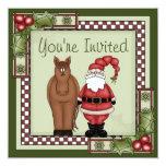 Horse and Santa Holiday Party Invitation