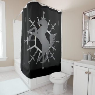 Horse and Swords Shower Curtain