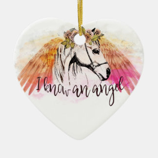 Horse Angel Christmas Ornament