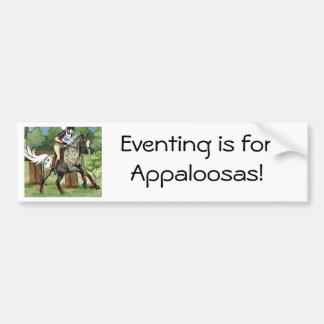 Horse Art APPALOOSA Eventing Car Bumper Sticker