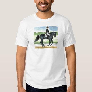 Horse Art BLACK dressage Canter Clothing Tshirt