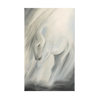 Horse art canvas wrapped print
