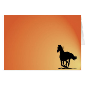 Horse art card