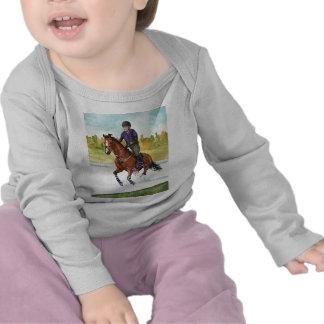 HORSE ART Cross-Country Thru Water Tee Shirts
