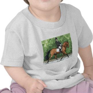 Horse Art Dressage Horse Bay Trotting T Shirts
