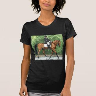 Horse Art Dressage Horse Bay Trotting T-shirts