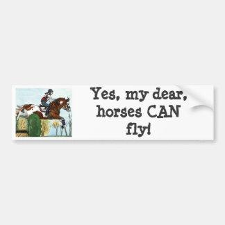 Horse Art Flying Paint Horse XC Bumper Sticker
