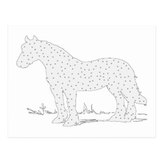 Horse Art for Winter Postcard