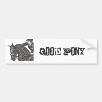Horse Art GOOD JOB! Dressage Pat Bumper Sticker
