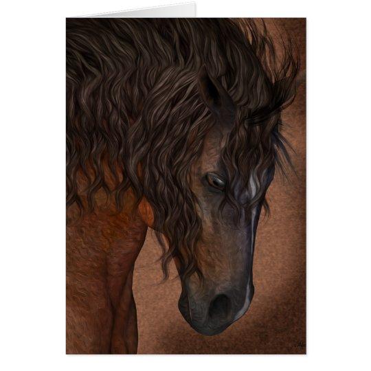 Horse Art Greeting Card, Blank Equine Card
