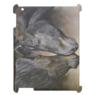 Horse art iPad case