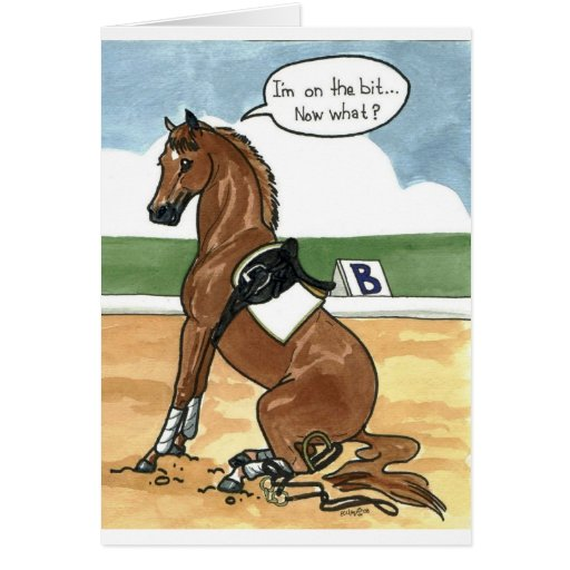 Horse art ON THE BIT now what Cards