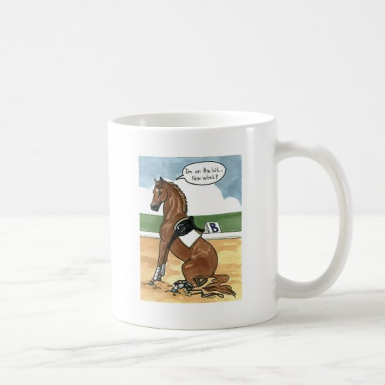 Horse art ON THE BIT now what Coffee