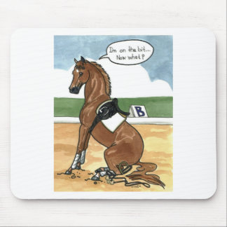 Horse art ON THE BIT now what Mouse Pad