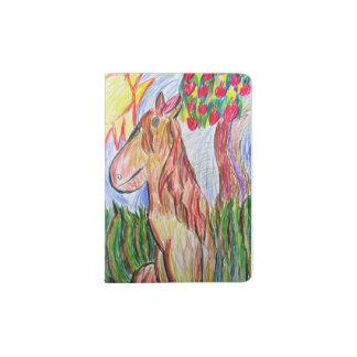 horse art three passport holder