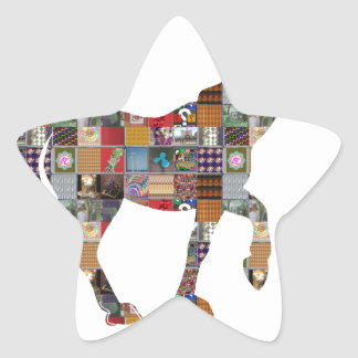 HORSE Artistic Collection Patches FUN NVN477 gifts Star Sticker