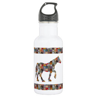 HORSE Artistic Collection Patches FUN NVN477 532 Ml Water Bottle