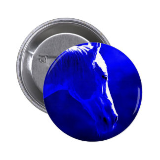 Horse At Night - Horse In Moonlight 6 Cm Round Badge