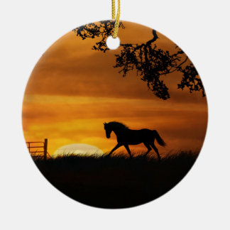Horse at Sunset Ornament