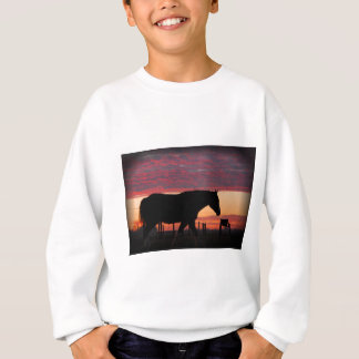 Horse at sunset sweatshirt