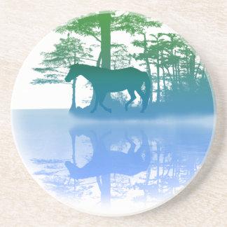 Horse At Twilight Beverage Coasters