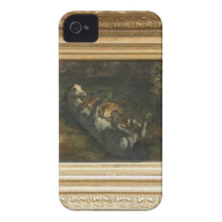 Horse Attacked by Lioness by Eugene Delacroix iPhone 4 Case