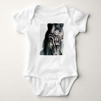 Horse Baby Jersey Bodysuit, White Baby Bodysuit