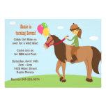 Horse Back Rider Birthday Party Invitation