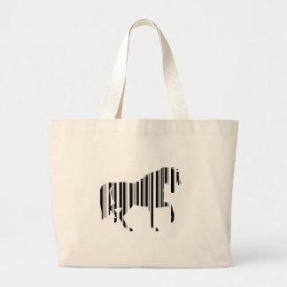 HORSE BAR CODE Zebra Barcode Pattern Design Jumbo Tote Bag