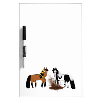 Horse barn dry erase board