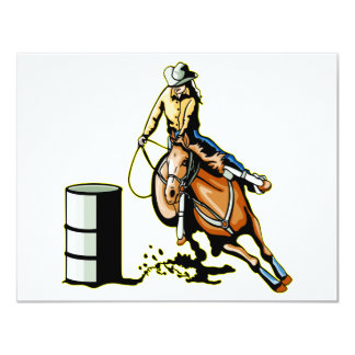 Horse Barrel Racing 11 Cm X 14 Cm Invitation Card