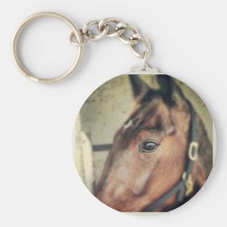 Horse Basic Round Button Key Ring