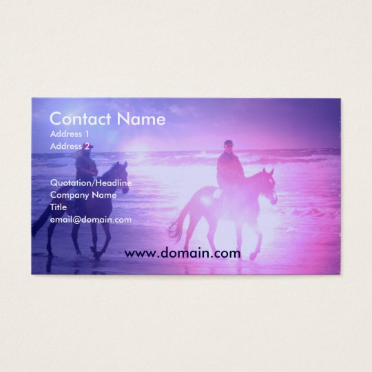 Horse Beach Walk Business Card