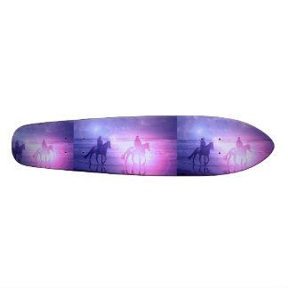 Horse Beach Walk on a Skateboard