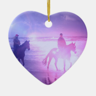 Horse Beach Walk Ornament